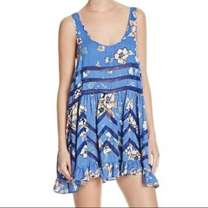 Free People Voile and lace slip